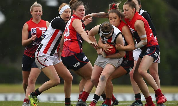 The Southern Saints were undone by wet weather and a cleaner Casey Demons outfit. - St Kilda Saints,AFLW