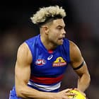 MELBOURNE, AUSTRALIA - JULY 07: Jason Johannisen of the Bulldogs in action during the 2018 AFL round 16 match between the Western Bulldogs and the Hawthorn Hawks at Etihad Stadium on July 07, 2018 in Melbourne, Australia. (Photo by Adam Trafford/AFL Media)