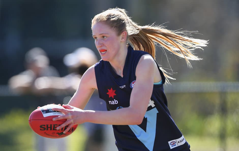 Isabella Grant and Vic Metro had a comfortable win over the Central Allies on Friday - AFLW,AFLW Draft,AFLW Under-18s