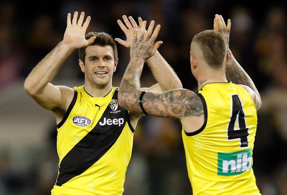 Dustin Martin and Trent Cotchin are among eight Tigers named in the All Australian squad - AFL,All Australian