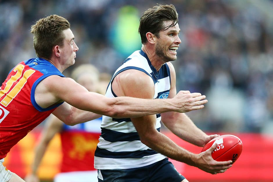 Tom Hawkins has more success against the Lions than any other club. - Geelong Cats,Brisbane Lions