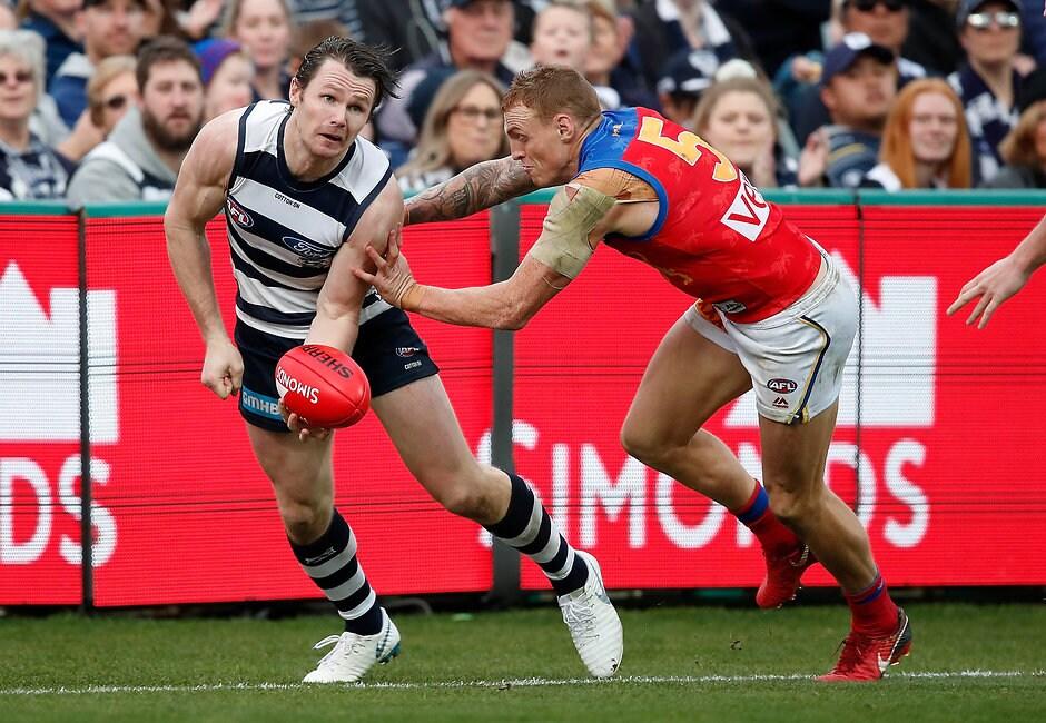 Patrick Dangerfield is ready for a dog fight against Brisbane. - Geelong Cats,Brisbane Lions,Patrick Dangerfield