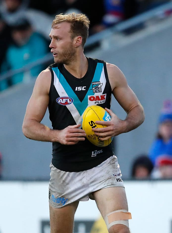 Jack Hombsch will hope to get more game time at the Suns - AFL,Port Adelaide Power,Trade,Jack Hombsch