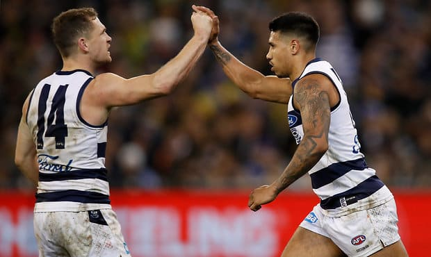Tim Kelly was given the best on ground honours on Friday night. - Geelong Cats