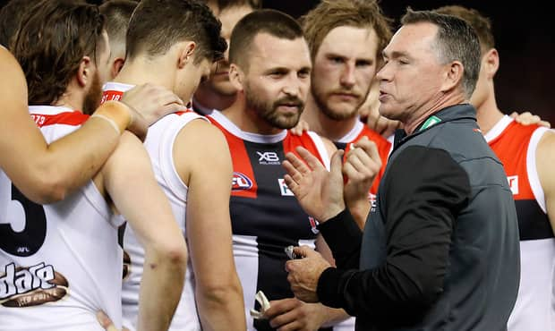 A battered Essendon has powered to a 43-point victory and kept its slim finals hopes alive against St Kilda on Friday night. - St Kilda Saints,Essendon Bombers