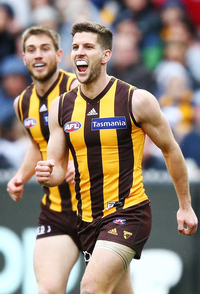Luke Breust kicked two goals against the Cats - AFL,Hawthorn Hawks,Geelong Cats,MCG