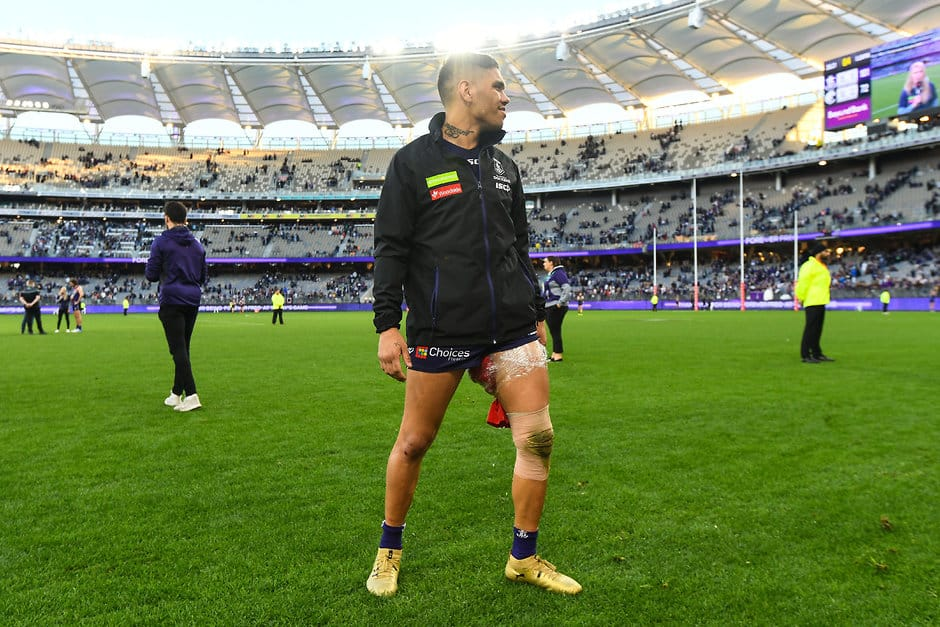 Michael Walters finished last Sunday's win over Carlton on the bench - AFL,Fremantle Dockers,Michael Walters,Nat Fyfe