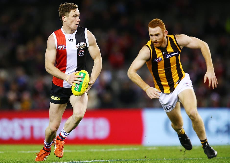 A champion Saint and three prospective youngsters headline the extended squad inclusions. - St Kilda Saints,Hawthorn Hawks