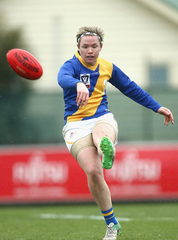 Jess Duffin in action for Williamstown - AFLW,Jess Duffin,North Melbourne Kangaroos