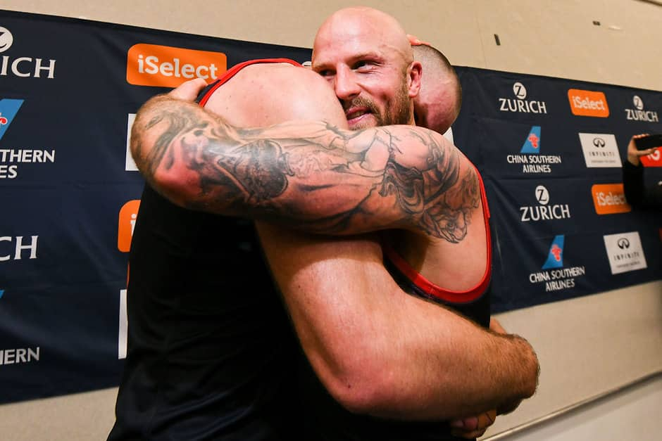 Skipper Nathan Jones And Ruckman Max Gawn Celebrate The Win Over West Coast Afl