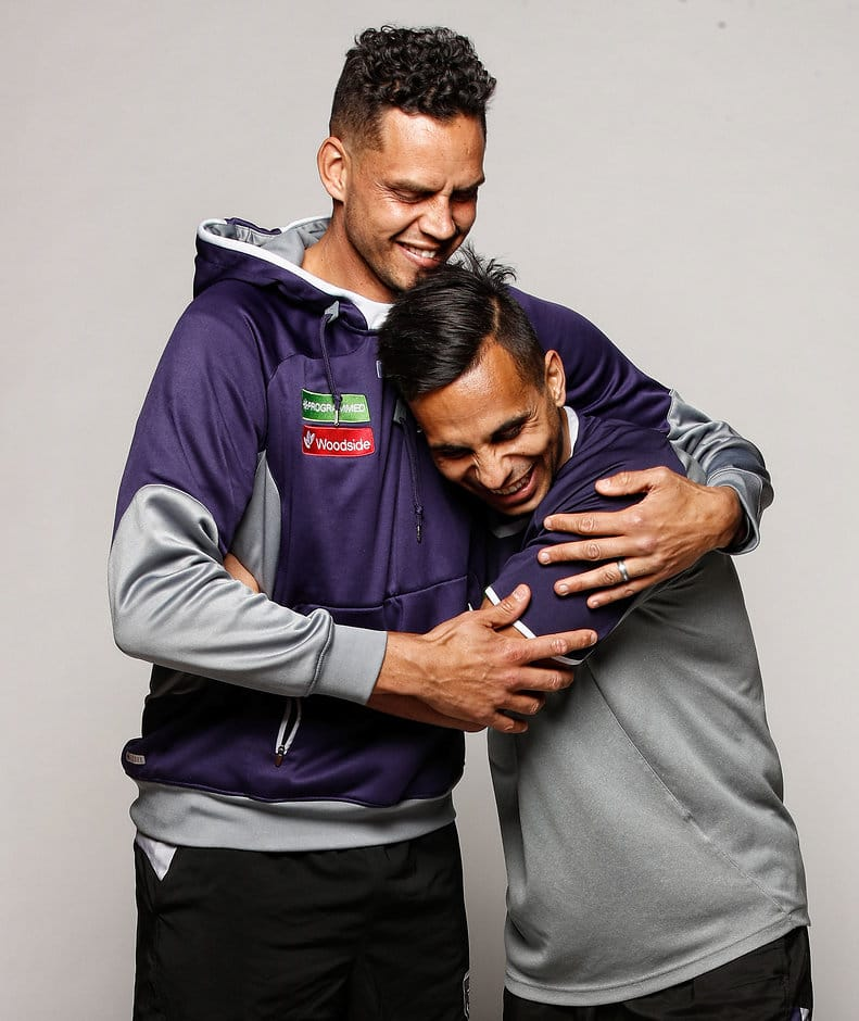 Dockers Michael Johnson (left) and Danyle Pearce have announced their retirements - AFL,Fremantle Dockers,Danyle Pearce,Retirements,Michael Johnson