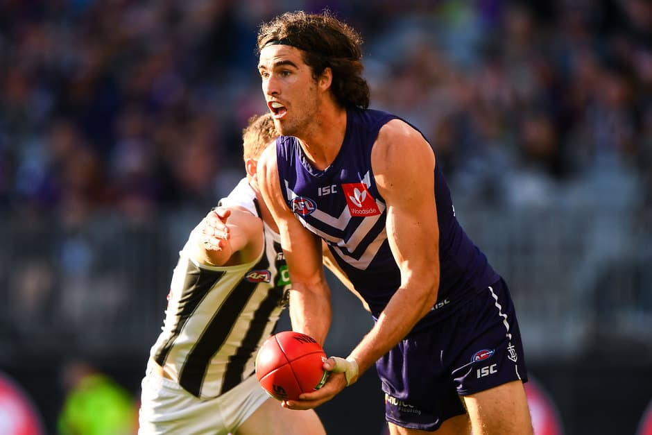 Taylin Duman points to Alex Pearce and Joel Hamling to fill the leadership position down back. - Fremantle,Fremantle Dockers