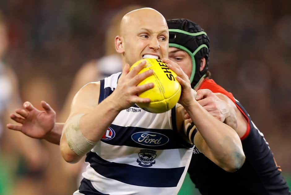 Gary Ablett carried the injury into Friday night's elimination final. - Geelong Cats,Gary Ablett
