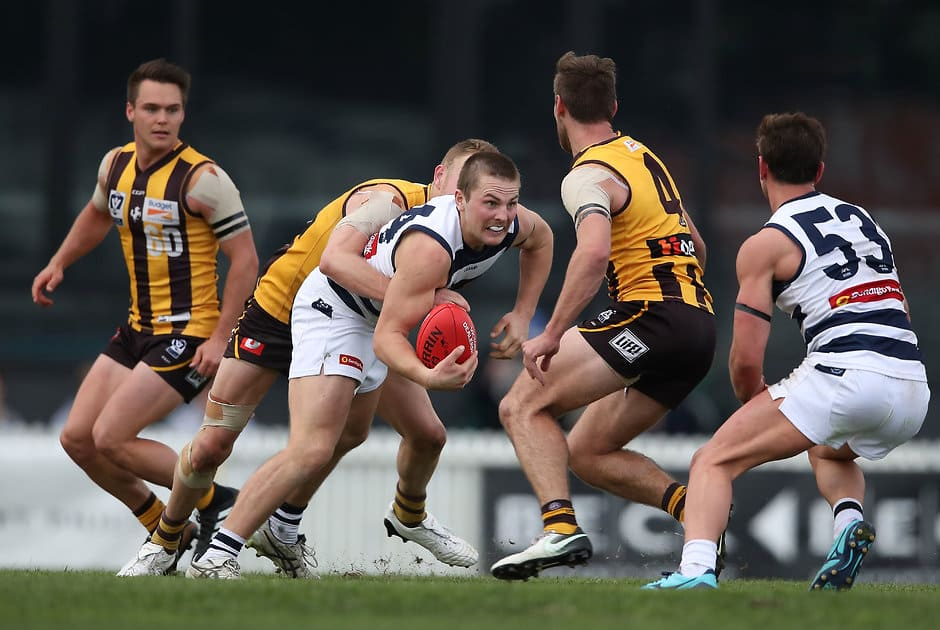 Tom Atkins has become another graduate of the Geelong VFL production line - AFL,Geelong Cats