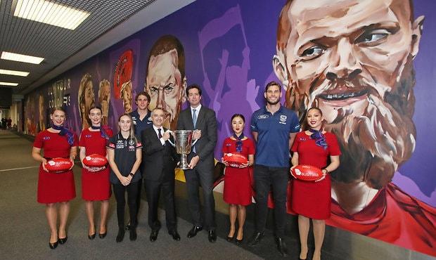 AFL 2018 Media - Virgin Australia Finals Mural