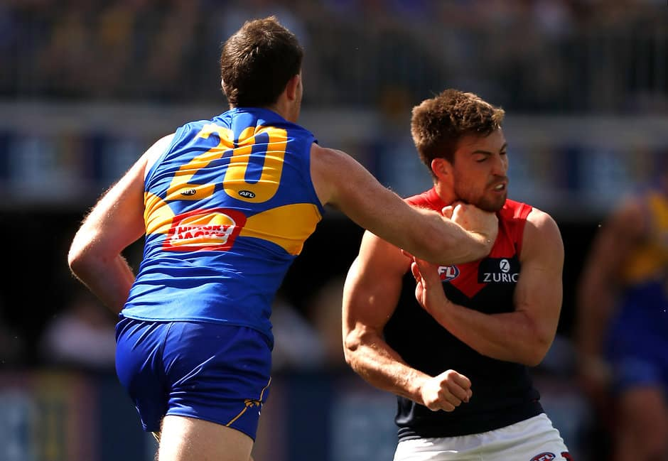 Jeremy McGovern has been offered a fine for this incident with Jack Viney - AFL,Tribunal