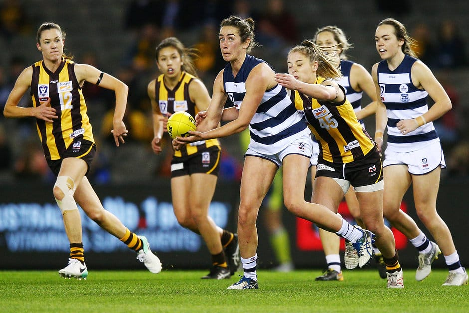 Bec Goring is back to play her first match of the VFLW season. - Geelong Cats,Rebecca Goring,Denby Taylor