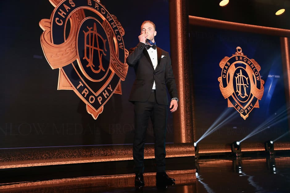 Tom Mitchell won the 2018 Brownlow Medal but will miss this season after breaking his leg - AFL,Brownlow,Essendon Bombers,St Kilda Saints,Sydney Swans,Collingwood Magpies,Graham Moss,Colin Watson,Brian Gleeson,Des Fothergill,Bob Skilton,Tom Mitchell,Hawthorn Hawks,Tag-Explainers