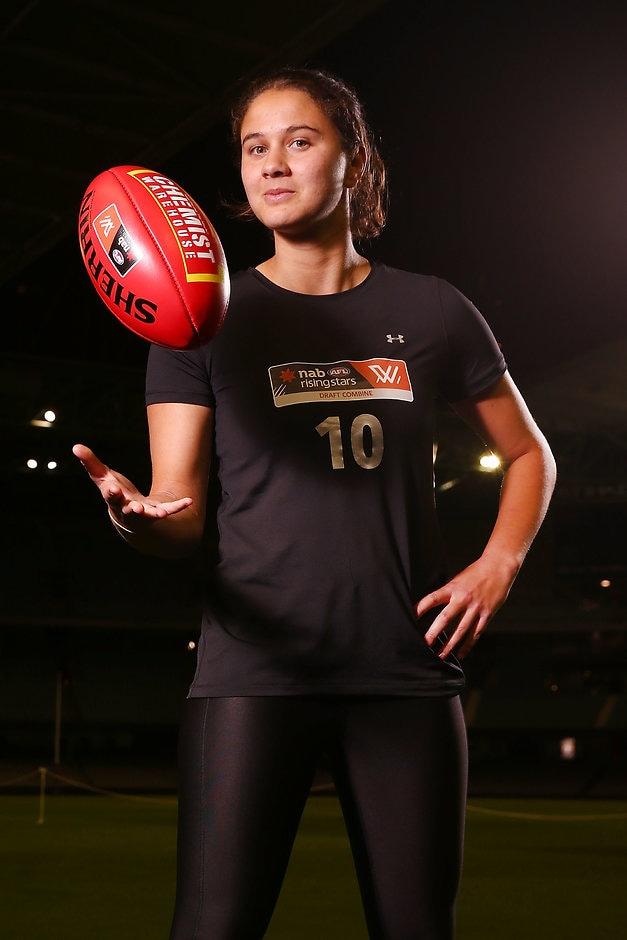 McKenzie Dowrick has nominated Queensland as her draft destination - AFLW
