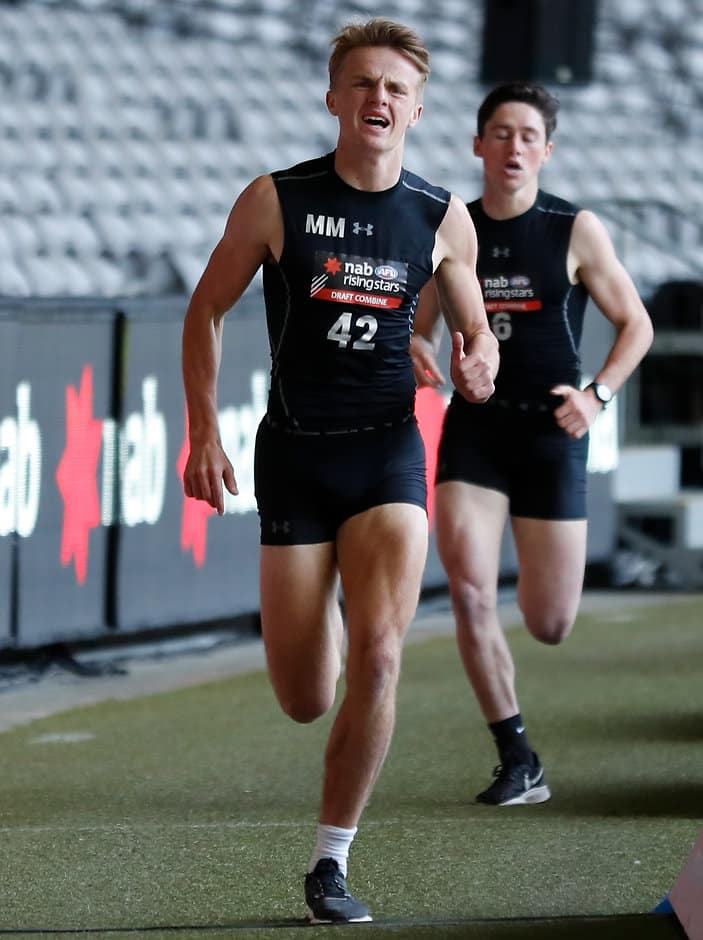 Jacob Kennerley won the 2km time trial at the AFL draft combine earlier this year - Geelong Cats