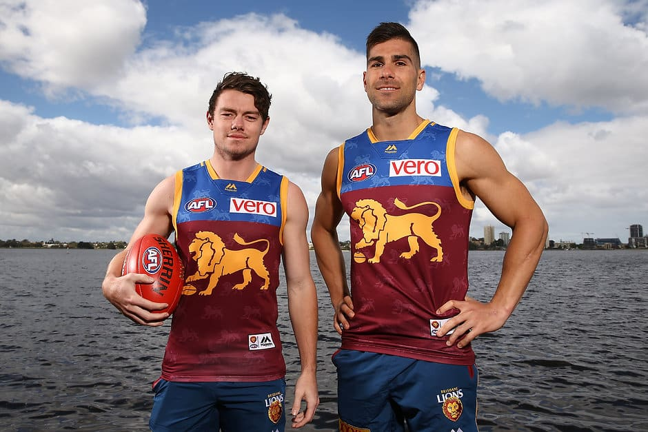 New Lions Lachie Neale and Marcus Adams - AFL,Brisbane Lions,Lachie Neale,Lincoln McCarthy,Marcus Adams
