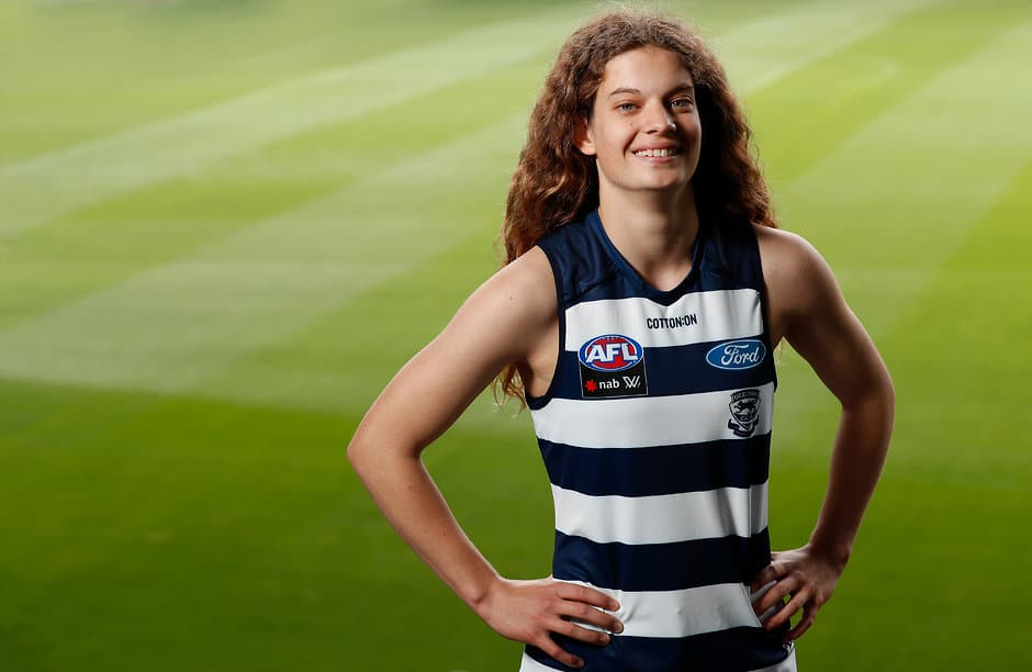 Number one draft pick Nina Morrison previously registered for a Geelong Talent ID Day - Geelong Cats