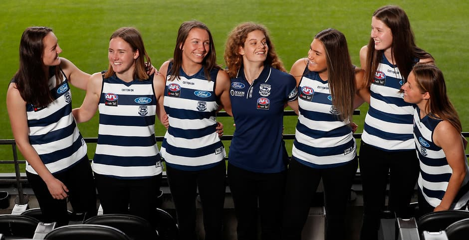 The Cats' strong nucleus of bright young talents will return in 2020.  - Geelong Cats,AFLW