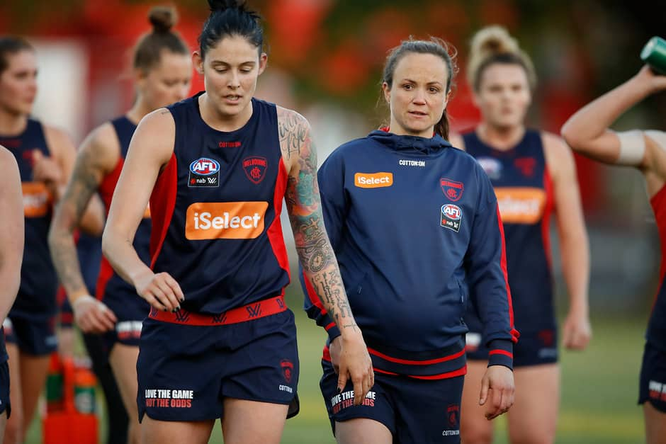 Daisy Pearce at Melbourne training on Thursday - Daisy Pearce,AFLW,Melbourne Demons