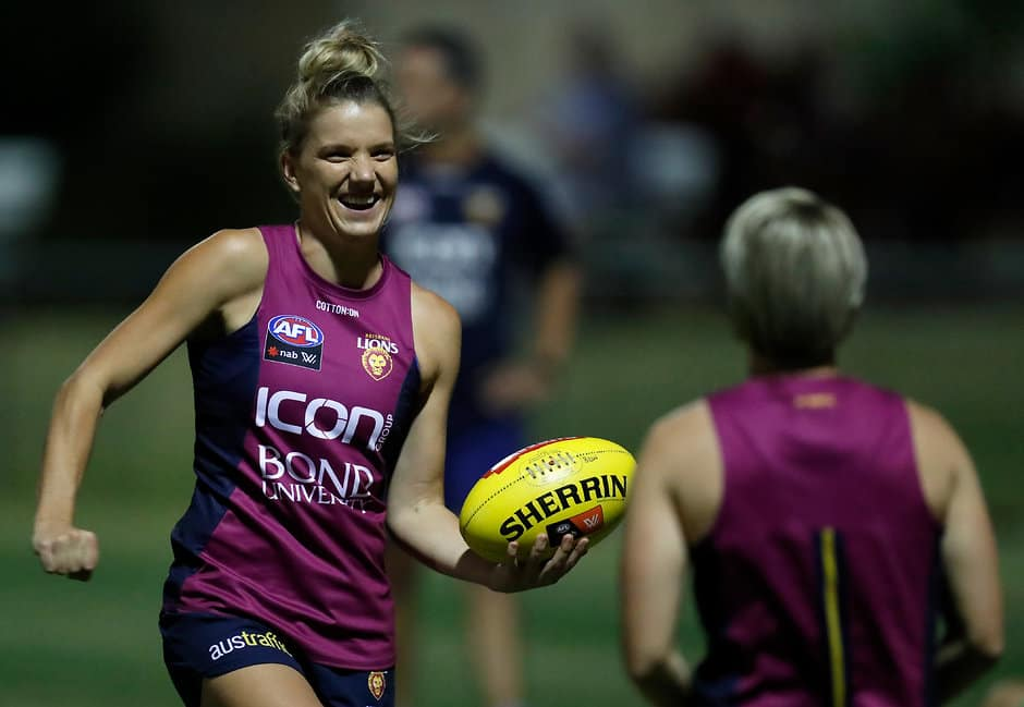 Brisbane selected Paige Parker with the club's first pick in the 2018 NAB AFLW Draft - AFLW,Adelaide Crows,Brisbane Lions,Carlton Blues,Collingwood Magpies,Fremantle Dockers,Geelong Cats,GWS Giants,Melbourne Demons,North Melbourne Kangaroos,Western Bulldogs,Jessica Foley,Paige Parker,Rhiannon Watt,Maddie Shevlin,Philipa Seth,Brittany Perry,Casey Sherriff,Jessie Davies,Renee Garing,Alison Drennan