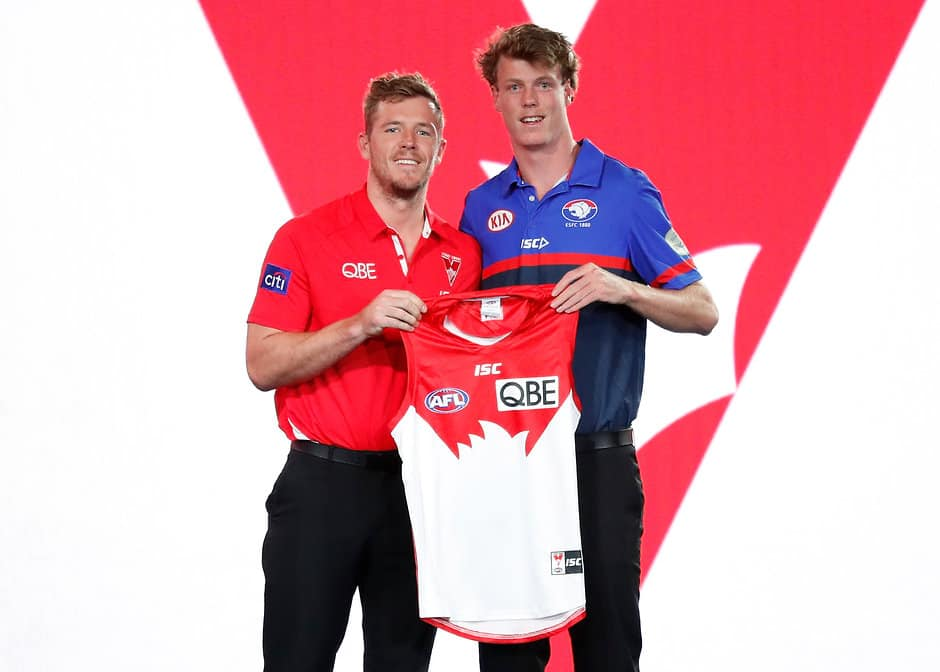 Former UNSW-Eastern Suburbs player Nick Blakey (right) with new Sydney teammate Luke Parker - AFL,Nick Blakey,Sydney Swans