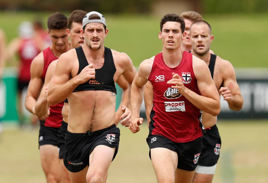 Oscar Clavarino (middle right) has his eyes set on an AFL debut in 2019. - Oscar Clavarino