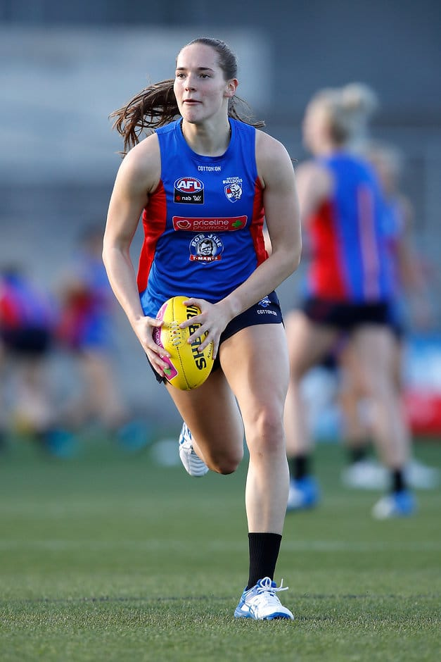 Forward Isabel Huntington (above) may not take to the field until round five of the NAB AFLW season. - Western Bulldogs,AFLW,Isabel Huntington,Injuries