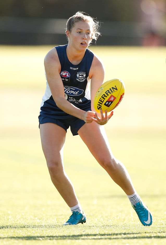 Olivia Purcell will play her first VFLW game of the season on Sunday. - Geelong Cats,Sophie Van De Heuvel,Olivia Purcell