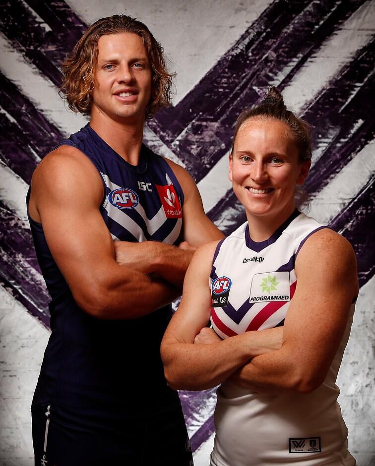 Fremantle captain's Nat Fyfe and Kara Donnellan are both looking for team success in 2019. - Kara Donnellan,AFLW,Fremantle Dockers,Fremantle,Nat Fyfe,Sabreena Duffy,Jasmin Stewart,AFLW Draft