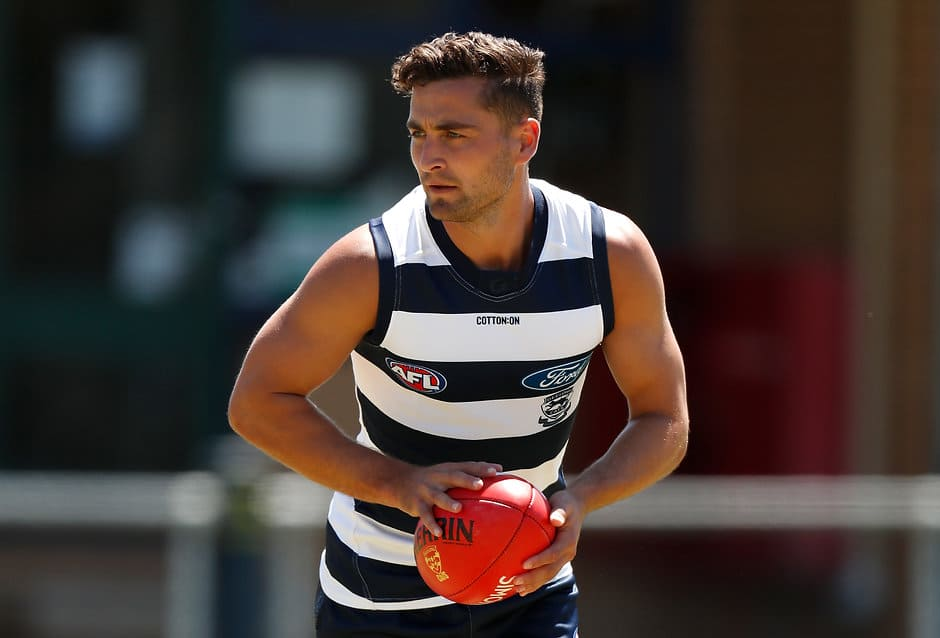 Luke Dahlhaus will add a new attacking dimension this year - Geelong Cats