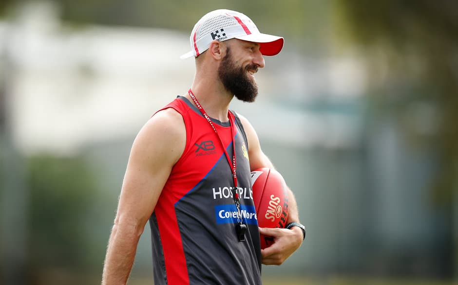 GOLD COAST, AUSTRALIA - DECEMBER 13: Nick Malceski, Development Coach of the Suns looks on during the Gold Coast Suns training session at Metricon Stadium on December 13, 2018 on the Gold Coast, Australia. (Photo by Adam Trafford/AFL Media)