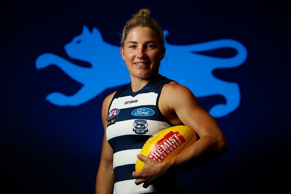 AFLW captain Melissa Hickey will play her first VFLW game for the club on Saturday. - Geelong Cats,Melissa Hickey