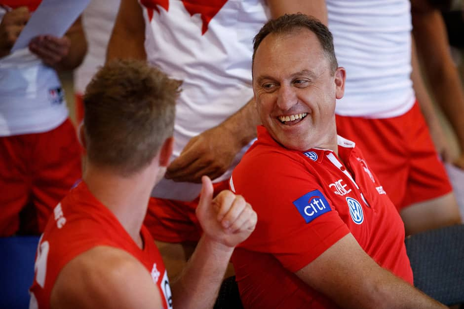 The Swans don't have any concerns about John Longmire remaining with the club, chairman Andrew Pridham says - AFL,Sydney Swans,John Longmire