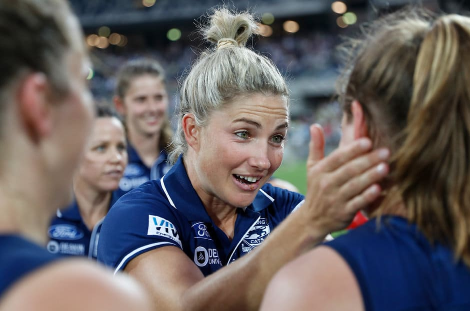 Geelong captain Melissa Hickey says all players have a responsibility to be role models within the community. - Geelong Cats,Melissa Hickey