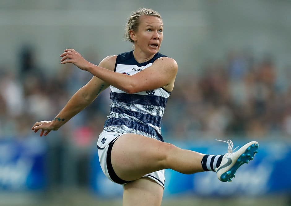 Aasta O'Connor in Round 1 against Collingwood - Geelong Cats,AFLW