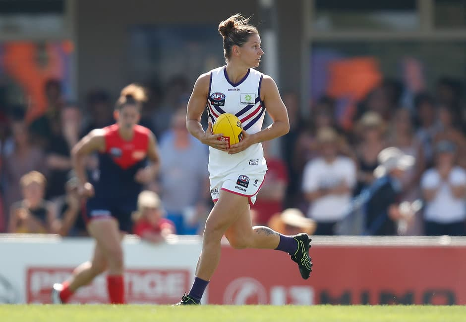 Fremantle midfielder Kiara Bowers has finished runner-up in the AFLW Players' Most Valuable Player Award. - Fremantle,Fremantle Dockers