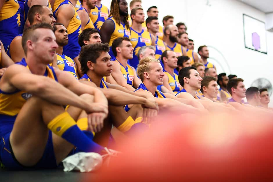 Josh Smith (centre) has replaced Christ Masten as West Coast's new time-trial king - AFL,Chris Masten,Josh Smith,West Coast Eagles
