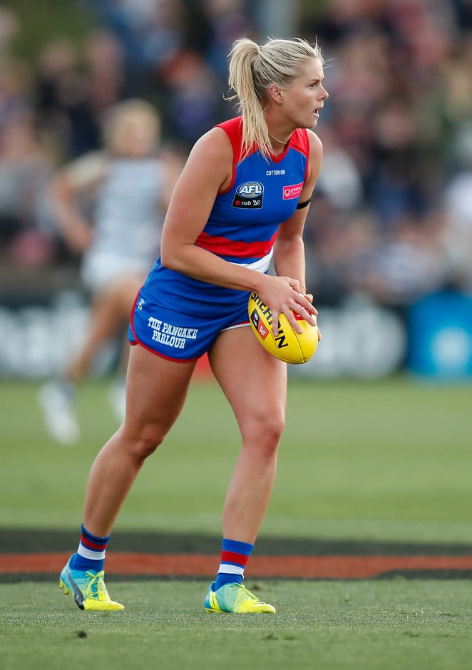 Katie Brennan leaves the Club after playing 13 games and kicking 15 goals. (Photo: AFL Media) - Western Bulldogs