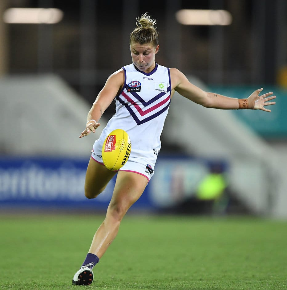 AFLW star Kellie Gibson said last Saturday's loss to Adelaide was an important reality check. - Fremantle,Fremantle Dockers,AFLW,Kellie Gibson