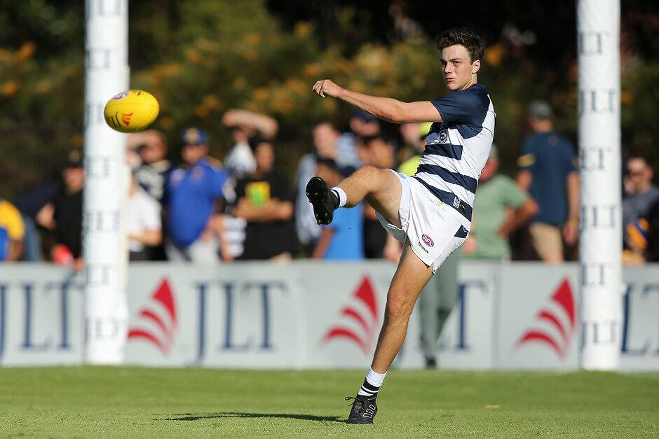 Clark has played his way to a likely round one start. - Geelong Cats,Jordan Clark