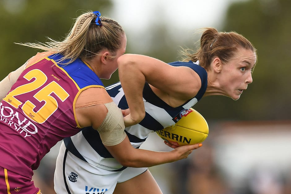 Geelong and Brisbane are fighting for a place in this year's finals series. - Geelong Cats