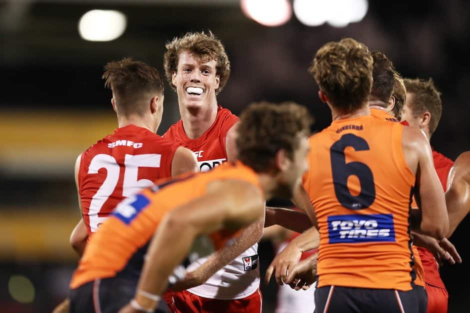 Nick Blakey will make his debut for the Swans against the Bulldogs on Saturday night - AFL,Western Bulldogs,Sydney Swans,Marvel Stadium,Brisbane Lions,West Coast Eagles
