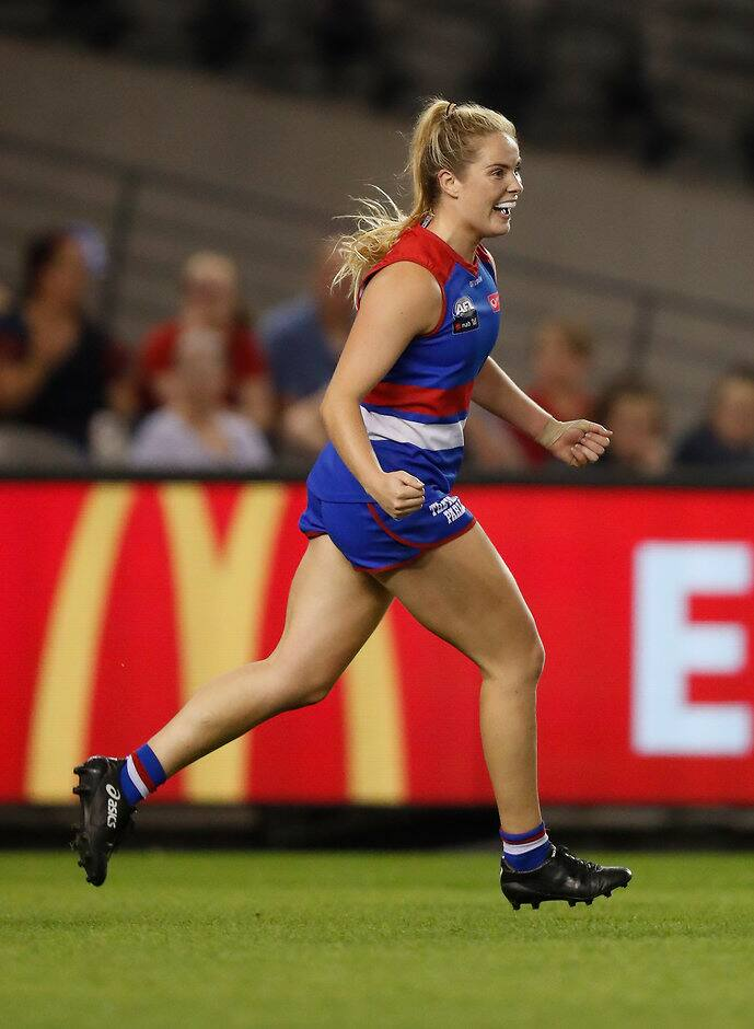 Aisling McCarthy (above) and Celine Moody join a list of 13 players who have re-signed for the 2020 AFLW season and beyond - Western Bulldogs,AFLW,Trade,Tag-AFLW,Aisling McCarthy,Celine Moody