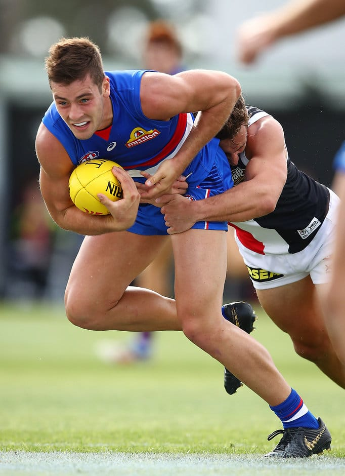 Josh Dunkley, along with Jack Macrae (29 possessions each) led the way in the midfield. (Photo: AFL Media) - Western Bulldogs