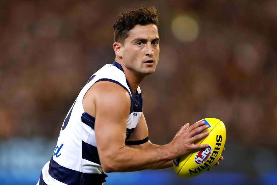 Luke Dahlhaus will lineup against his former side on Saturday. - Geelong Cats